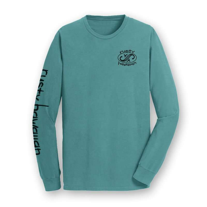 PNW Beach Washed Long Sleeve Tee Shirt Front Product Picture