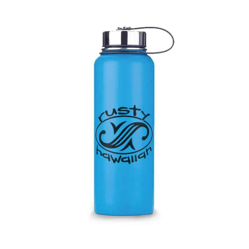 Rusty Hawaiian Insulated Water Bottle - Front