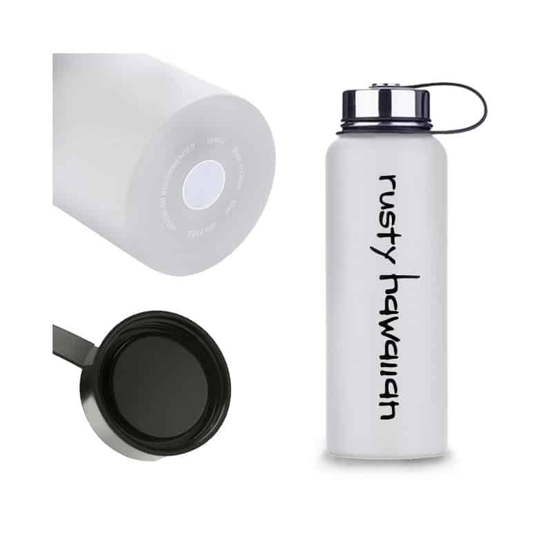 Rusty Hawaiian Insulated Water Bottle - Multiple Pictures