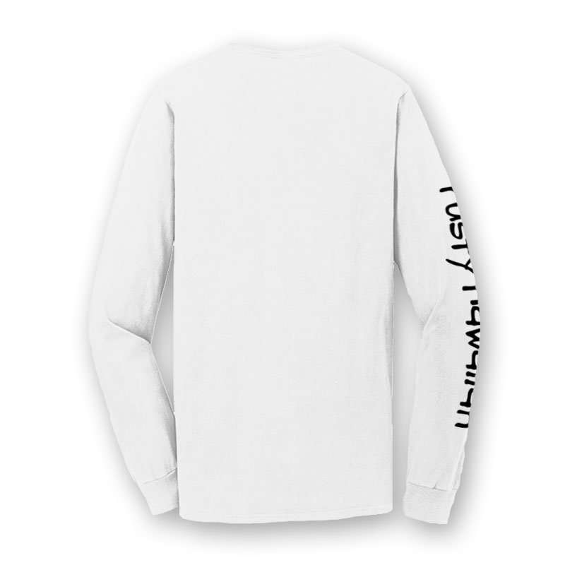 Pacific Northwest Beach Washed Long Sleeve T Shirt Back Product Picture