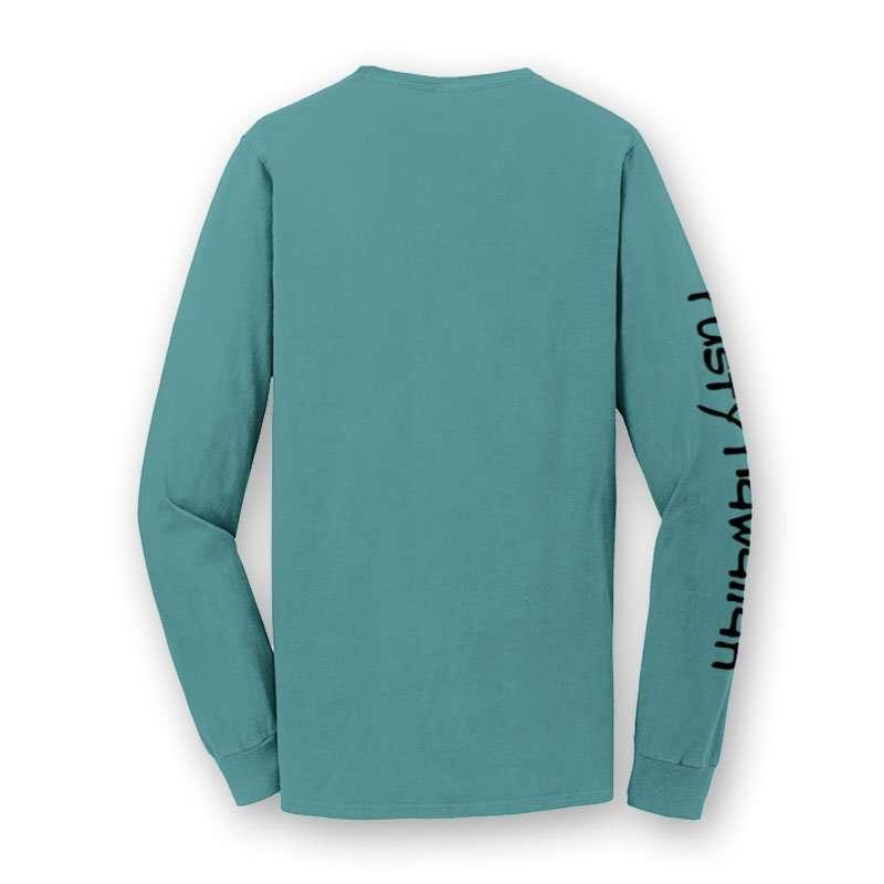 Rusty Hawaiian Beach Washed Long Sleeve Tee Shirt Back Product Picture