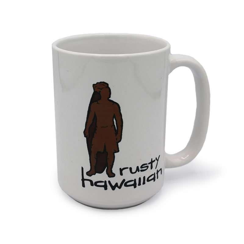 Rusty Hawaiian Coffee Mug with Surfer Man Logo - 1 Count