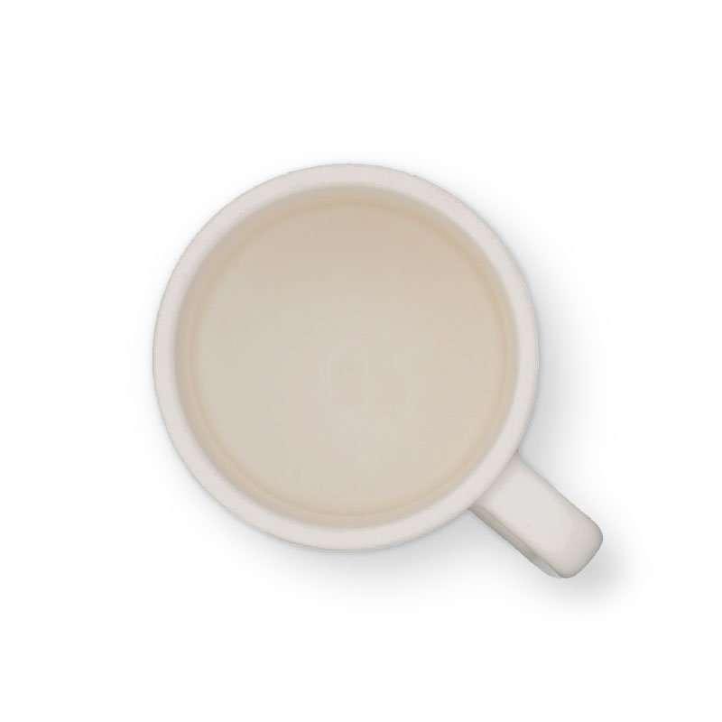 Rusty Hawaiian Coffee Mug with Surfer Man Logo - TOP View