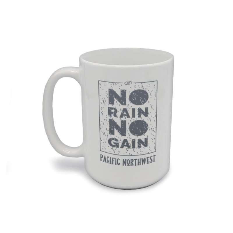 No Rain No Gain in Box Coffee Mug Front