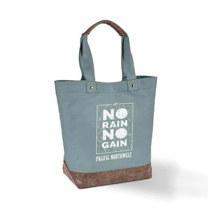 No Rain No Gain in Box Tote Bag